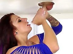 Busty masseuse gets cum