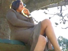 Busty latina babes public nudity and outdoor peeing of exhibitionist