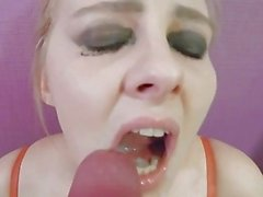 Deep throat fucking DeNata