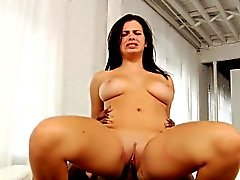 Busty interacial babe pussylicked and drilled