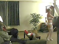 Hubby Coaches Hotwife with a Roomful of Cock PART 01