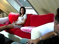 Foot blowjob Young Anina has to come to Philippe's office fo