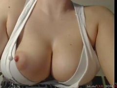 cam show Busty Milf rubbing her Puffy Nipples