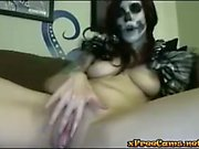 Day Of The Dead Babe Masturbates On