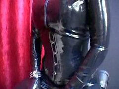 lesbians latex brutal fuck and facesitting