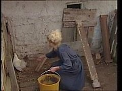 Jessica Rizzo gang banged in the country by horny farmers