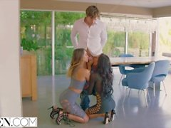 VIXEN Uma Jolie and Amia Miley Share a Cock