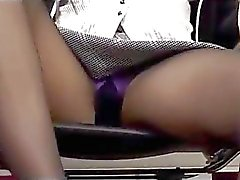 Office Lady In Pantyhose Getting Her Legs Licked Giving Footjob Cum To Leg In The Office