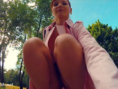 Jeny Smith was caught naked in a park