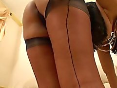 Danica - Plays with her self in sexy Nylons