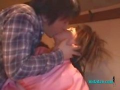 Drunken Girl In Kimono Squirting While Fingered By 2 Guys In The Restaurant