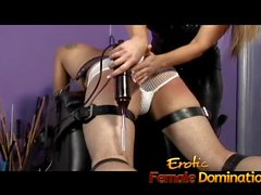 Obedient slave experiences the full force of mistress Nicolettes Anger