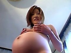 Pregnant asian mature tits licked