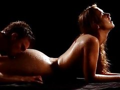 Couple having wet sex