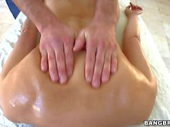 Katsuni gets her exotic bar Ass rubbed on massage table