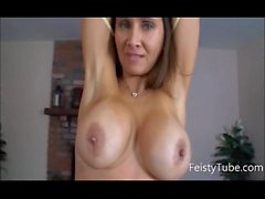 Stepmom catches son jerking off feistytube