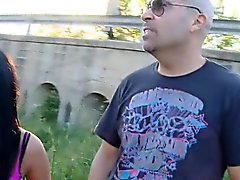 Brunette Public Blowjob And Doggystyle Fucking By Highway