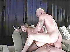 Cute young asian girl with perky tits is double penetrated by two guys