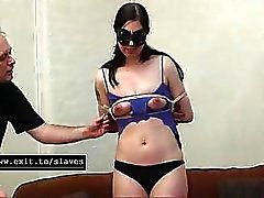 Cruel bondage waxing and whipping slave Cabellero