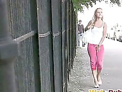 Pussy flashing after street self-wetting