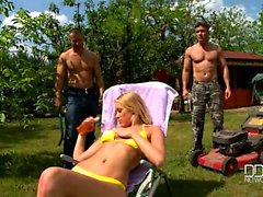 blond, pipe, viol collectif, sexe en groupe, hardcore