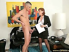 Cfnm milf group feel up naked guy