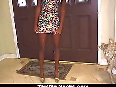 ThisGirlSucks - Ebony Teen Loves To Suck White Cock