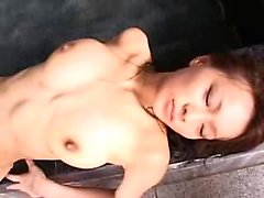 Enchanting Japanese girl with lovely boobs submits to a rag