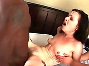 Messy slut gets porned by two men