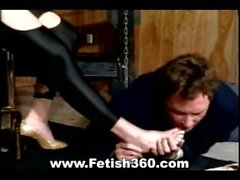 Submissive foot slave