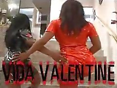 Vida Valentine and a friend