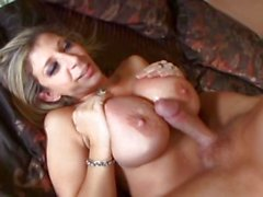 Hot MILF Sarah Jay having her sweet pussy filled with a large cock