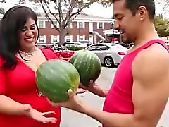Funny carries her big melons