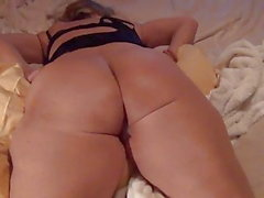 Wifey showing off her cream pie and big ass