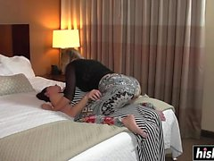 Two lesbians fuck in the hotel