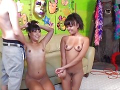 Yuki Mori and Annie Cruz suck dick with each other!
