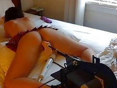 Getting Machine Fucked by Big Dildos - LittleSexyPeach