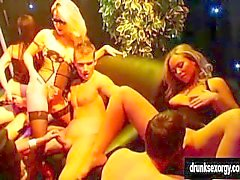 Sexual pornstars fucking at casino party