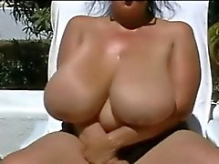 BBW-Granny with Huge-Boobs Outdoors