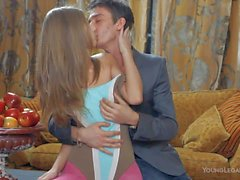 Sex obsessed Teen Anjelica in pink pantyhose