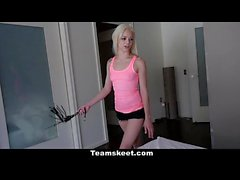 Dyked - Petite Blonde Dominates Stepmom With Strap On