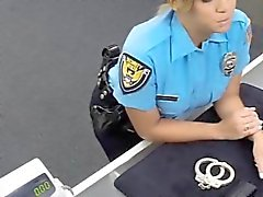Big tits police officer sucks and fucked the pawn man
