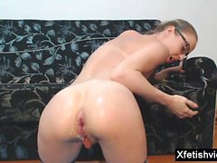 Hot pornstar anal fisting with cumshot