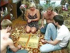 Mature wife gangbanged