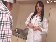Slutty nurse makes love with patients 05