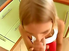 Horny Russian Guy almost impregnates his Wife in Kitchen