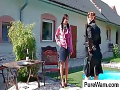 Mistress takes her slave outside and punishes her for being bad