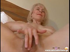 Sweet Mom Hazel May Plays with Her Hairy Pussy Porn