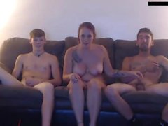 Sweet Redhead in Fantastic Threesome