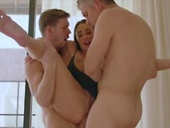 TUSHY Hot Wife Loves DP with Her Husband and His Best Friend